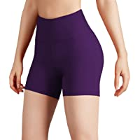 ODODOS Women's Yoga Short Tummy Control Workout Running Athletic Non See-Through Yoga Shorts with Hidden Pocket