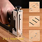 Staple Gun, TWorld 3 in 1 Heavy Duty Staple/Brad Nail Gun, 3 Way Tacker with 600 Staples for Fixing Material, Decoration, Carpentry, Furniture, Doors And Windows, Billboards