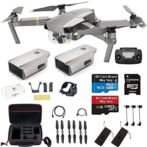 DJI Mavic Pro Platinum With 2 Extra Batteries, Professional Case and More by DJI
