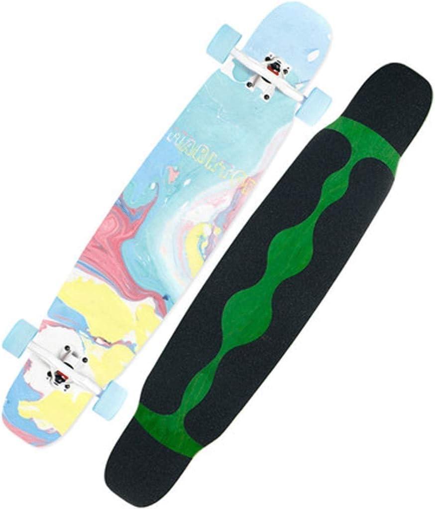 スケートボード ロングボードスケートボード初心者成人男性女性スケートボードプロスケートボード四輪スケートボード (Color : Colorful) Colorful