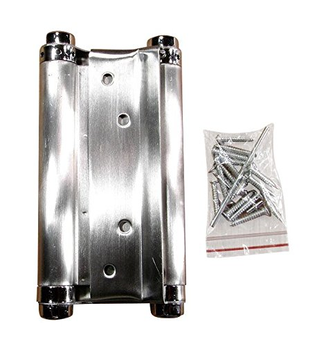 (Double Acting Spring Hinge - Stainless Steel - 6 inch - 2 Pack)