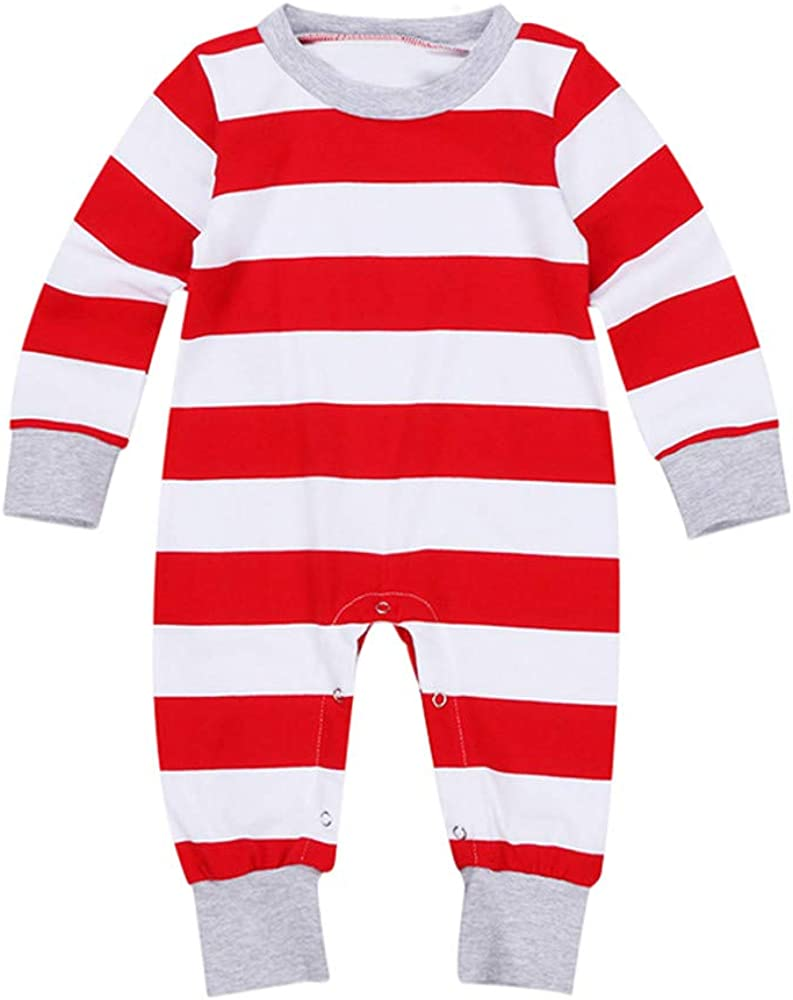 Lurryly ❤ Family Pajamas Christmas Santa Striped Sleepwear Kids Pjs Set Couples Suits
