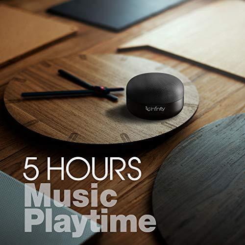 Infinity (JBL) Fuze Pint Deep Bass Dual EQ Bluetooth 5.0 Wireless Portable Speaker (Charcoal Black)