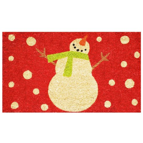 Calloway Mills 121041729R Holiday Snowman Doormat, 17