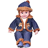 Jiada 22 Inches Baby Musical And Singing Boy Doll ,Cute Dress + Sings Rhymes + Touch Sensors