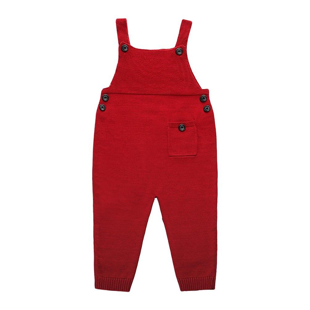 YOUJIA Unisex Casuale Salopette di Maglia Jumpsuit di Tinta Unita Pantaloni Per Ragazzo e Ragazza