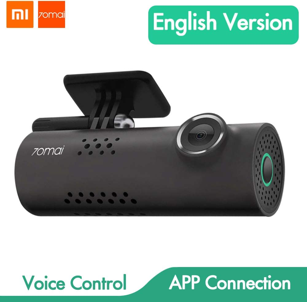Xiaomi 70mai Smart Dash CAM con WiFi Incorporado, con Control de Voz, grabación de Emergencia, Panel de Control de App, HD 1080P, Gran Angular de 130 ° con visión Nocturna, G-Sensor, DVR automóvil