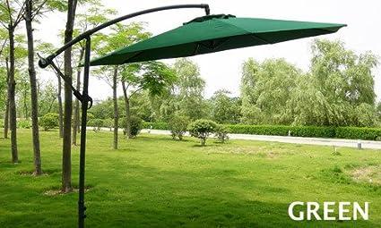 Wicker HUB GC504 Cantilever Side Pole Umbrella Green