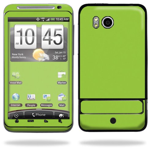 Mightyskins Protective Vinyl Skin Deca Cover for HTC Thunderbolt 4G Verizon Cell Phone wrap sticker skins - Glossy Green