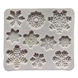 Nicemeet DIY Baking Mold Chocolate Christmas Snowflake Cake Shape Fondant Clay Silicone Mold