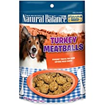 Natural Balance Delectable Delights Turkey Meatballs Dog Treats, 4-Ounce