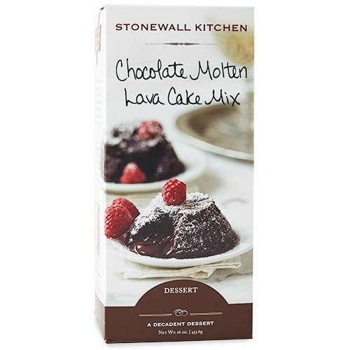 Stonewall Kitchen Chocolate Molten Lava Cake Mix, 16 Ounce Box (Lava Cake Mix)