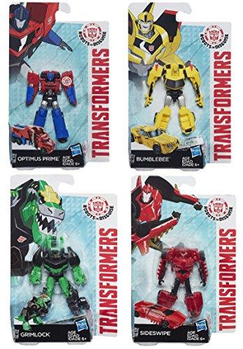 Transformers Robots in Disguise Legion Figure Set of 4 - Optimus Prime, Bumblebee, Grimlock & Sideswipe