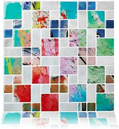 Cocotik Self Adhesive Wall Tile Peel and Stick Backsplash for Kitchen, 10