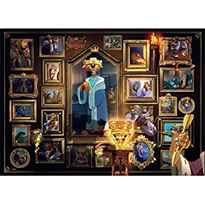 Ravensburger Disney Villainous Prince John 1000 Piece Jigsaw Puzzle for Adults – Every Piece is Unique, Softclick Technology Means Pieces Fit Together Perfectly: Toys & Games