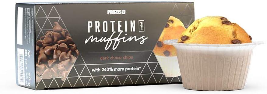 Prozis 2 x Proteína Mini Muffins – Gotas de Chocolate Fondant ...