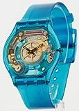 Swatch Blue Jelly Skin Womens Slim Watch SFN105