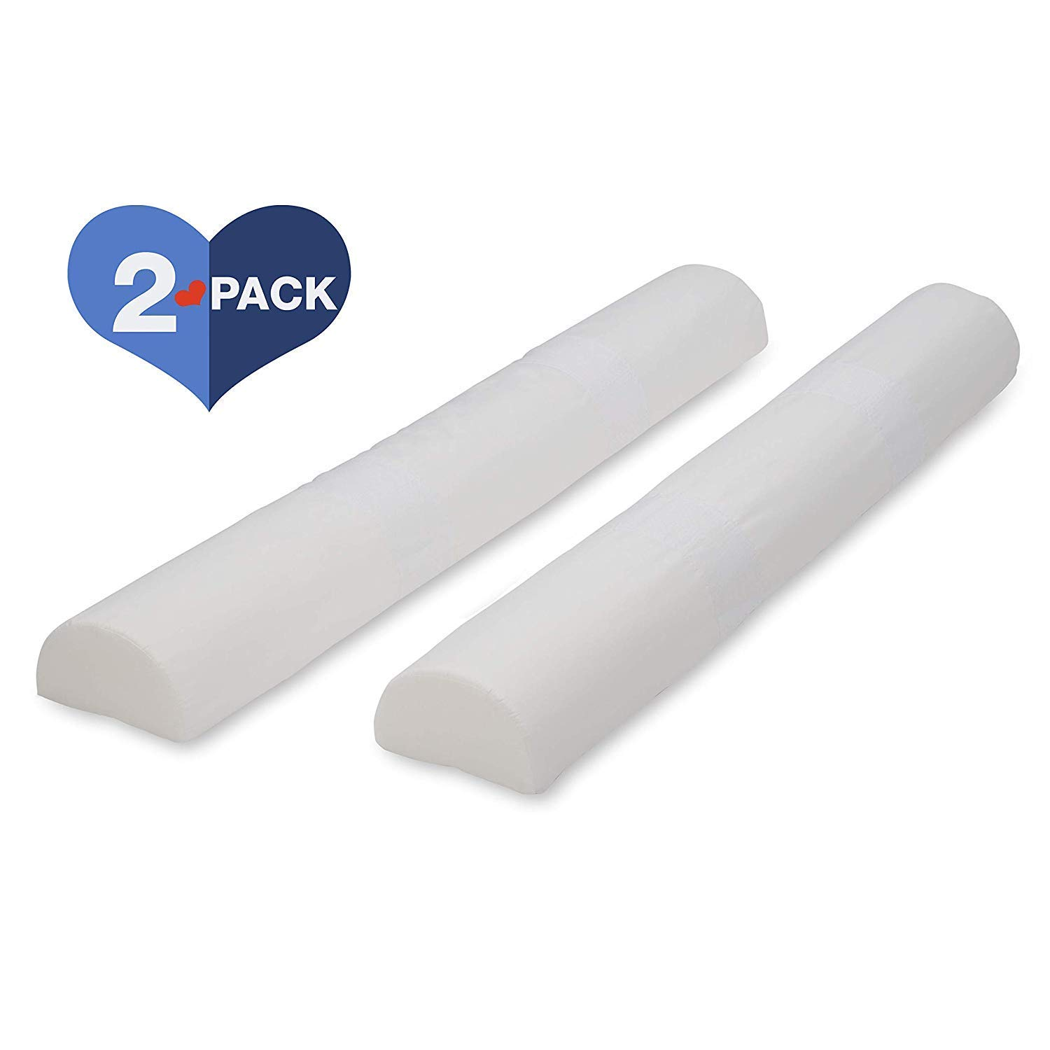 Delta Children Foam Bed Rails/Bumpers with Water-Resistant Covers and Non-Slip Bottoms for Toddlers & Kids - 2 Pack (White) by Delta Children (Image #2)