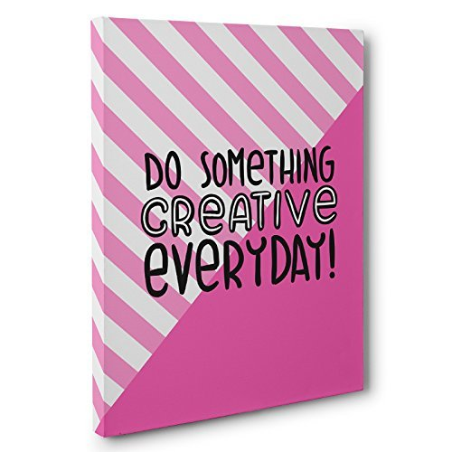 Do Something Creative Everyday Motivational Canvas Wall Art by Paper Blast