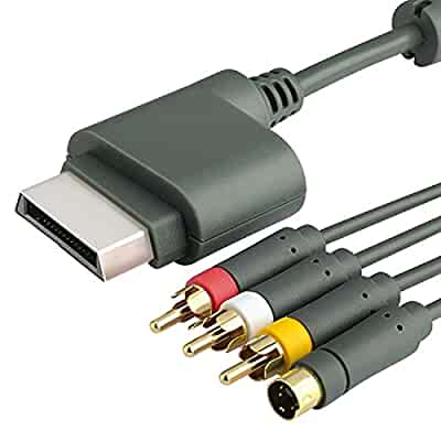 Insten s-video composite 3 rca adapter cable cord+10ft 10' hdmi.