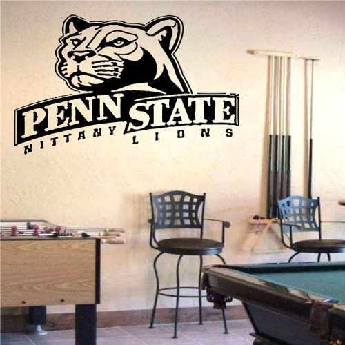 NCAA Penn State Nittany Lions Logo Wall Art Decal Sticker (Penn State Wall)