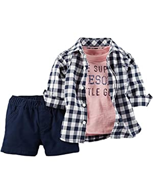 Carters Baby Boys Super Awesome Shorts Set 6 Months Navy blue/pink