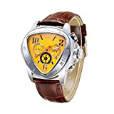 Romacci Man Mechanical Wristwatch Triangle Case Semi Automatic Watch with Date/Week/24H Sub-dials