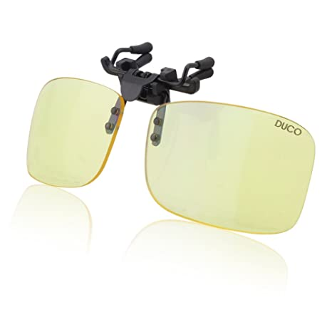 c8fc7157db3 Duco Ultra Lightweight Blue Light Blocking Clip-on Computer Glasses Gaming  Glasses Rimless Easy Fit