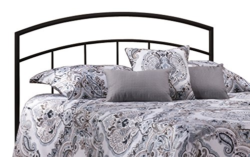 lien Headboard with Bed Frame, King, Textured Black ()