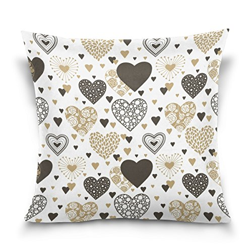 C75 Box - Top Carpenter Hearts Seamless Background Velvet Plush Throw Pillow Cushion Case Cover - 20