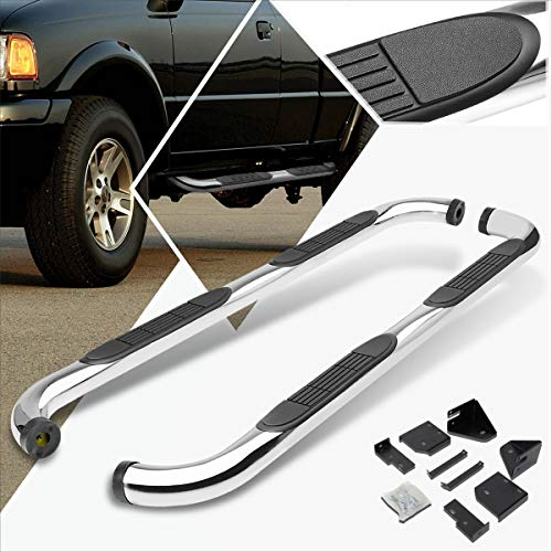 2004 Ford Ranger Super Cab - 3 Inches Chrome Running Board Side Step Nerf Bar Compatible with Ford Ranger Ext/Super Cab 98-11