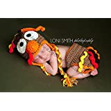 Thanksgiving Turkey Hat & Diaper Cover Outfit
