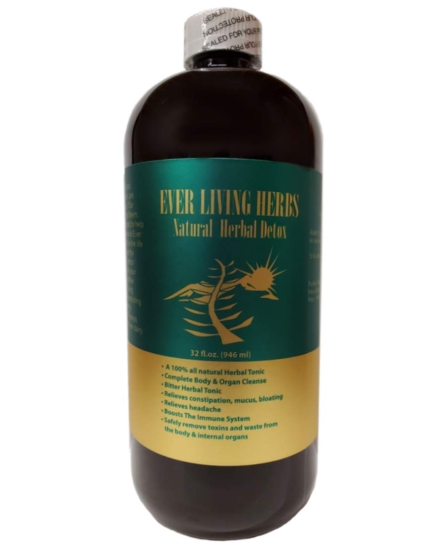 Ever Living Herbs w Moringa Neem Natural Herbal Detox 32 Oz.