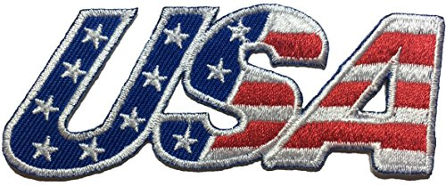 - USA American Alphabet Flag Patch Sew Iron on Applique Embroidered Emblem Badge Patch By Ranger Return (IRON-USA-ALPHABET)