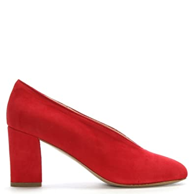 c23f6940ab Daniel Aneso Red Suede V Front Court Shoes 41 Red Suede: Amazon.co ...