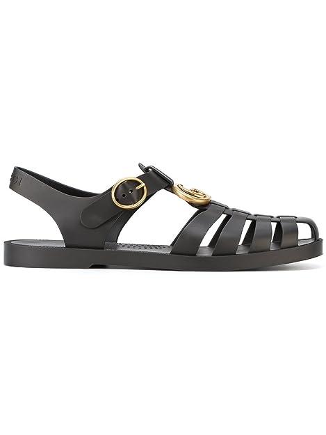 buy online 5b0bd 50275 Gucci Sandali Uomo 463463J87001000 Gomma Nero: Amazon.it ...