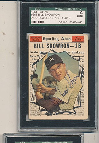 1961 topps card Signed #568 Bill Skowron vg sgc/jsa em cert. (568 Rose)