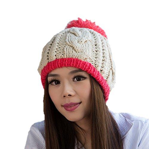 Punto señoras Bromista Sombrero Lana Las a Punto Maozi de de Sombrero Invierno 5 Coreano Moda del Sombrero Coreana de 2 WFw7TA8A6q