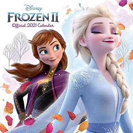 Calendario quadrato 2021 Disney Frozen 2 con adesivi organizzativi