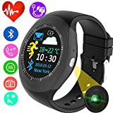 (US) Smart Watch Fitness Tracker Heart Rate Blood Pressure Monitor for Women Men Kids Sport Watch Pedometer Activity GPS Tracker Calorie Sync Phone Call SMS for Android iOS