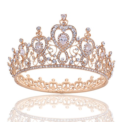Stuff Crystal Zircon Bridal Tiara Crown Wedding Bride Princess Full Crown (A Style - Princess Shops Brides Bridal