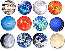 Planet Pattern Refrigerador Imán Cristal de moda Pegatinas para ...