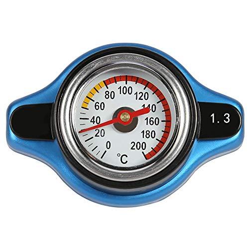 Cubierta del Tanque de Agua del Coche con termometro, Caja Fuerte para Mejorar la presion del radiador, Cubierta de presion del Tanque Universal modificada Fuera de la Carretera