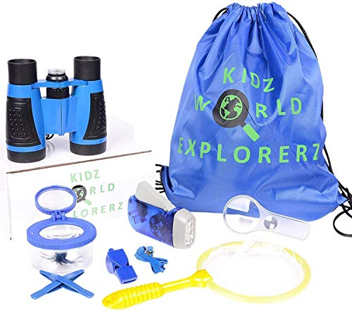 OLIVIA & AIDEN Outdoor Exploration Kit - 8 Piece Kids Binoculars Set, Great Kids Gift Set for Nature Exploration, Camping and Educational Play ()