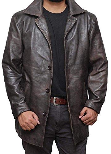 LEATHER ART Men's Richard Classic New Zealand Lambskin Leather Blazer (Regular Big & Tall Short)