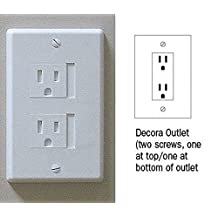 Self-closing 2 Screw Outlet Covers 6-pack (White)