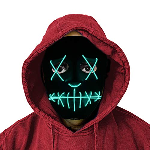 Glowing Creepy Mask - Halloween Party Costume]()