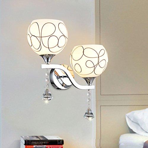 PLLP Lámpara de Pared Lámpara de Pared de Cabecera Sala de Estar Dormitorio Habitación Doble Cabeza Led Pasillo Corredor...