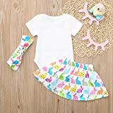 Kehen Infant Baby Girl 3pcs Easter Outfits Long