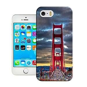 BreathePattern-Golden Gate Bridge, San Francisco Plastic Protective Case-Apple iPhone 5 case